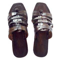 Men Dark Brown Sandal- Char Patti