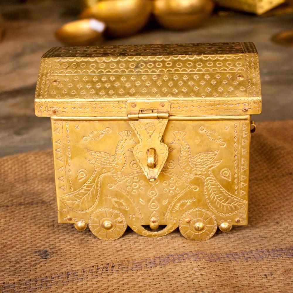 Hand Crafted Brass Pitara