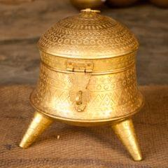 Hand Crafted Brass Dabhara Medium
