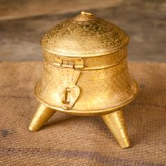 Hand Crafted Brass Dabhara Small