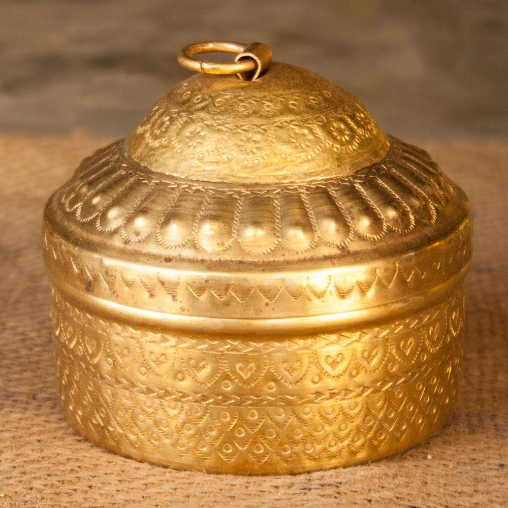 Hand Crafted Brass Mukhwas (Mouth Freshner) Box