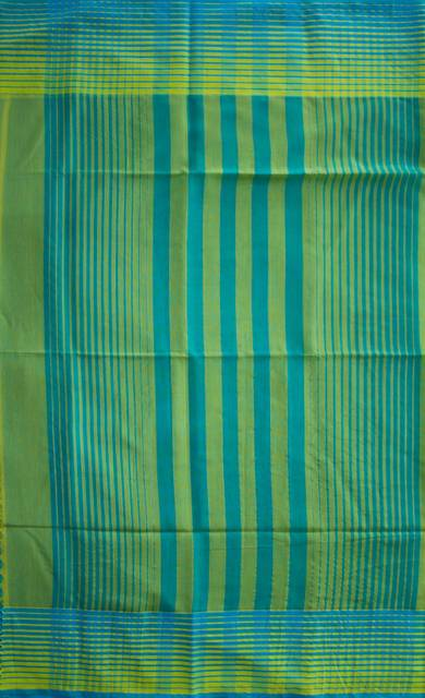 Maheshwari Handwoven Cotton-Silk Saree-Green