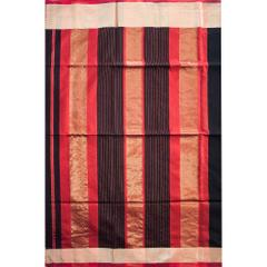 Maheshwari Handwoven Cotton-Silk Saree-Black