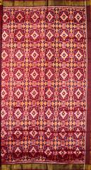 Single Ikat Patola Saree Handwoven-Pure Silk-Maroon