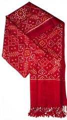 Pure Silk Single Ikat Patola Stole 36 Inch