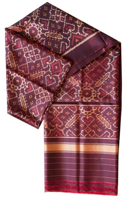 Pure Silk Single Ikat Patola Stole 48 Inch