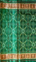 Single Ikat Patola Saree Handwoven-Pure Silk-Green