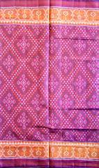Double Ikat Patola Saree Handwoven-Pure Silk-Purple