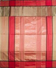 Maheshwari Handwoven Cotton-Silk Saree: Skirt Border