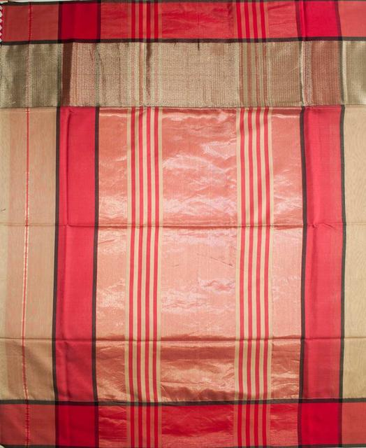 Maheshwari Handwoven Cotton-Silk Saree: Skirt Border