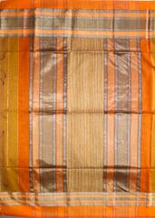 Maheshwari Handwoven Cotton-Silk Saree: Rui Full Border