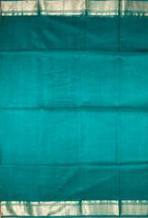 Maheshwari Handwoven Cotton-Silk Saree:Blue