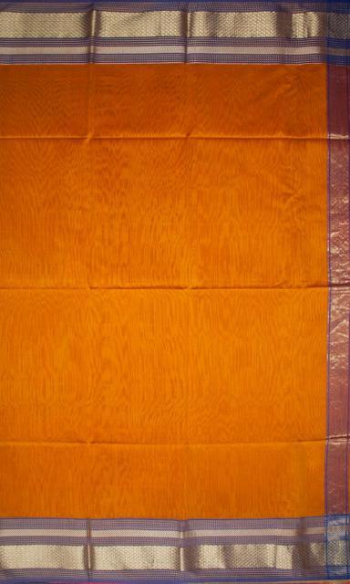 Maheshwari Handwoven Cotton-Silk Saree: Zari Diya Border Saree
