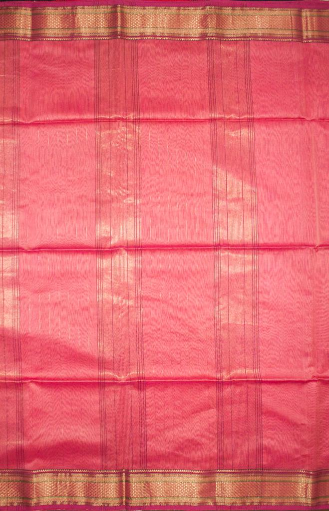 Maheshwari Handwoven Cotton-Silk Saree: Zari Diya Border Saree