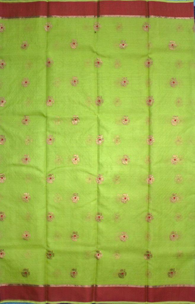 Authentic Kota Doria Pure Zari Work Cotton-Silk Saree, IHB Certified with GI tag