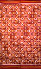 Authentic Double Ikat Patan Patola Saree Handwoven-Pure Silk-Silk Mark Certified
