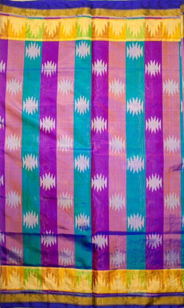 Authentic Single Ikat Rajkot Patola Saree Handwoven-Pure Silk-Silk Mark Certified