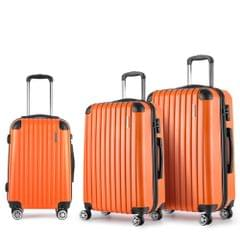 Set of 3 Hard Shell Travel Luggage with TSA Lock - Orange