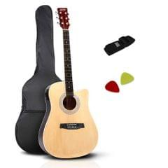 "41"" 5- Band EQ Electric Acoustic Guitar Full Size Natural"