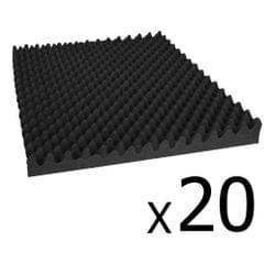 Studio 20 Eggshell Acoustic Foam Black 50 x 50cm