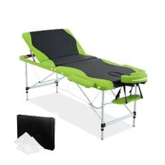 Aluminium Massage Table 3 Fold Green Black