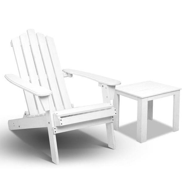 Adirondack Foldable Deck Chair & Side Table Set