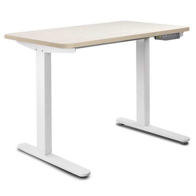 100CM Motorised Height Adjustable Sit Stand Desk White Oak