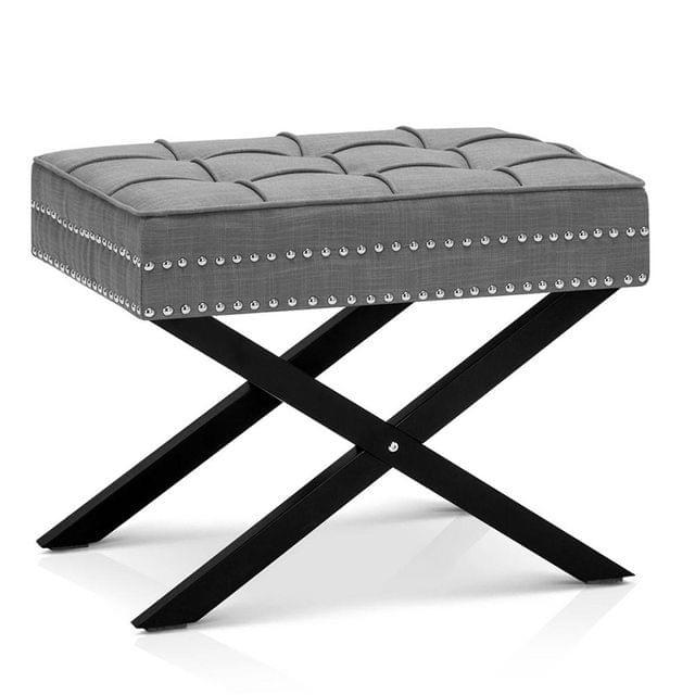 Seat Footstool Bench Stool - Grey