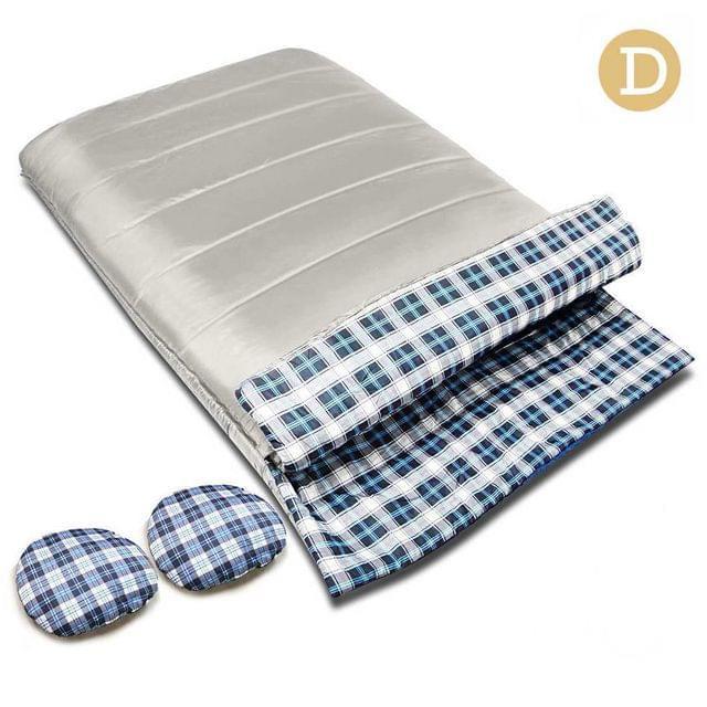 Camping Envelope Sleeping Bag Double Cream