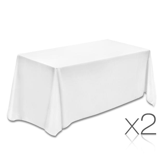 Set of 2 Table Cloths - White 153 x 320