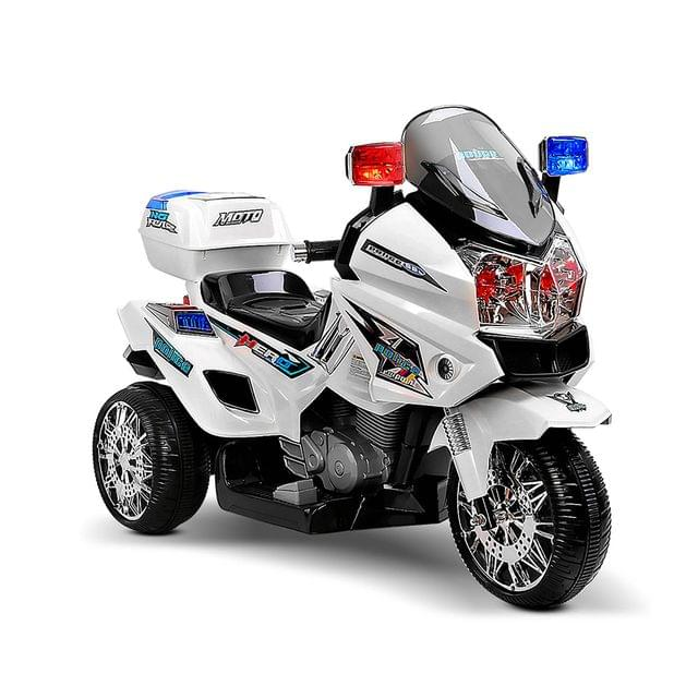 Kids Ride on Motorbike-White