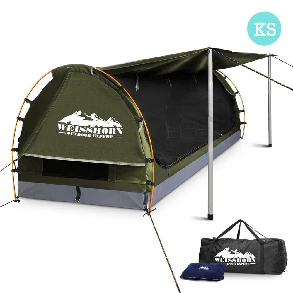 King Single Camping Swag Celadon