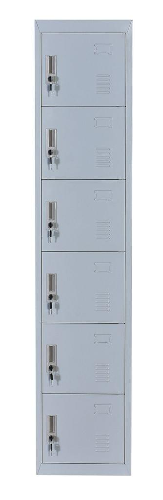 Six-Door Office Gym Shed Storage Lockers