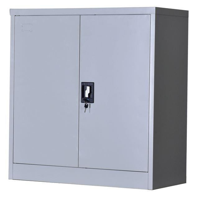 Two-Door Shelf Office Gym Filing Storage Locker Cabinet Safe
