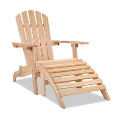 Adirondack Chair and Ottoman Set