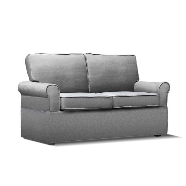 2-seater Fabric Sofa Bed Grey