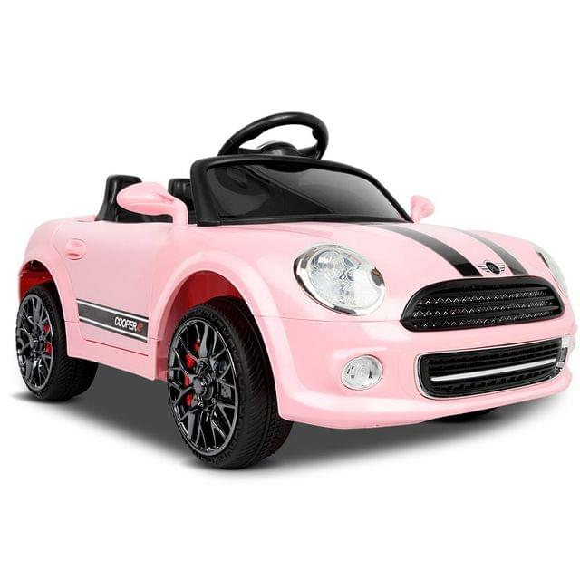 Mini Cooper Inspired Kids Ride On Car Pink