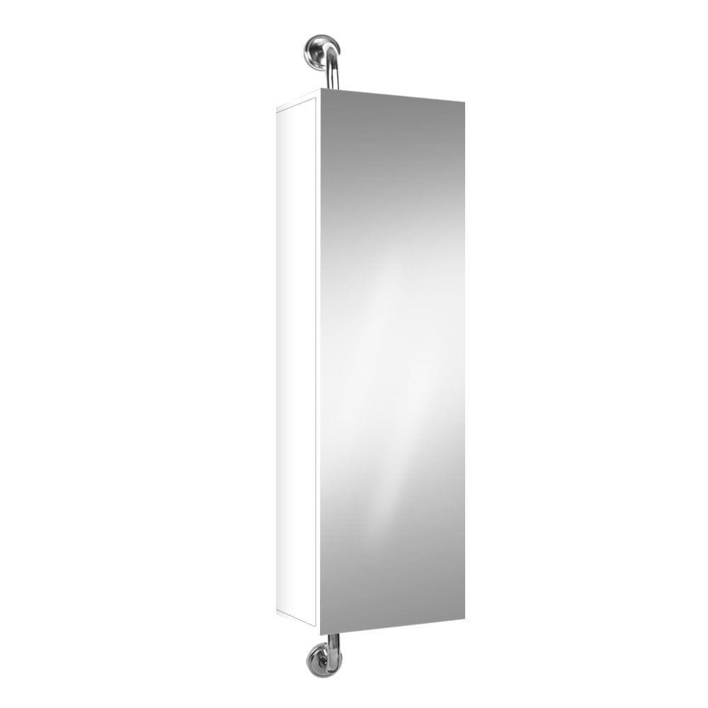 2 in 1 Mirror Storage Cabinet White