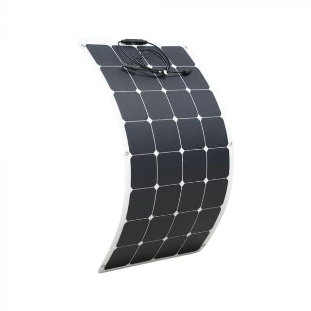 12V 100W FLEXIBLE SOLAR PANEL KIT CARAVAN CAMPING BOAT MONO BATTERY CHARGING