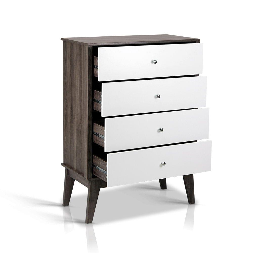 Storage Table With Four Drawers