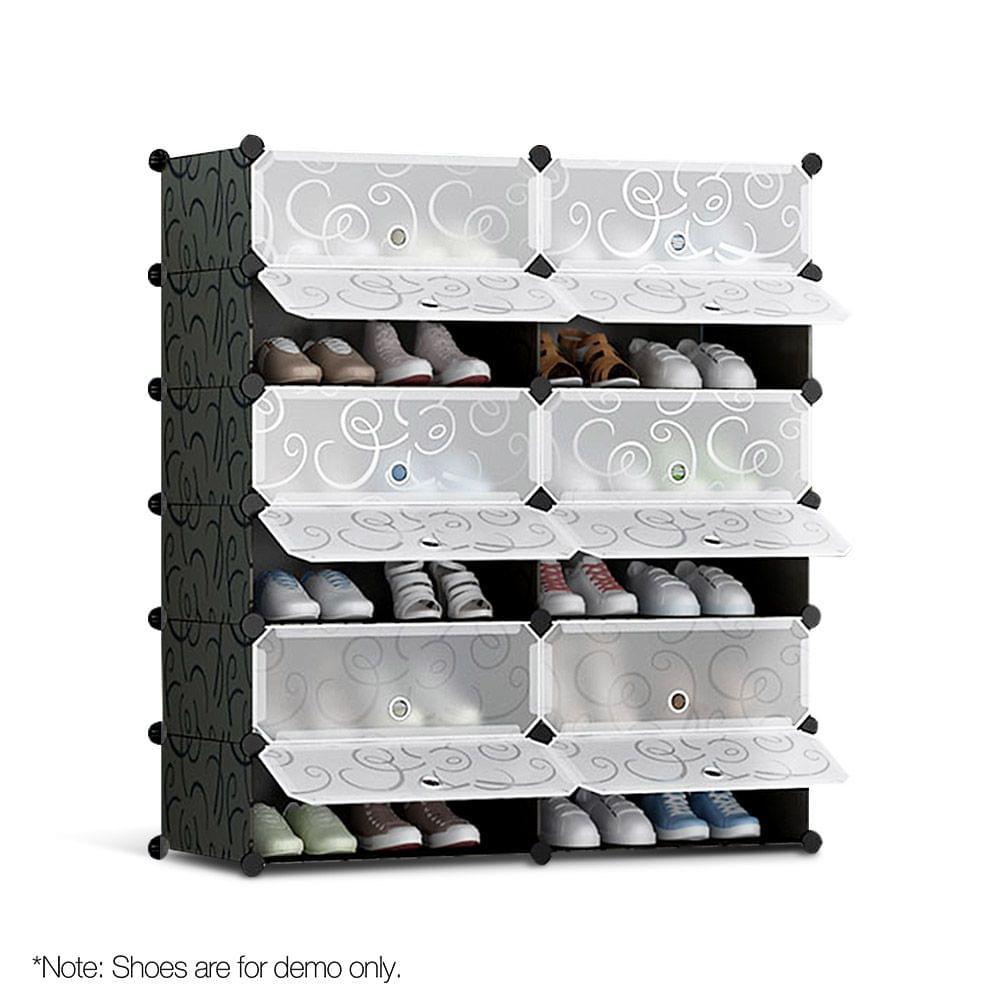 12 Cube Stackable Shoe Storage