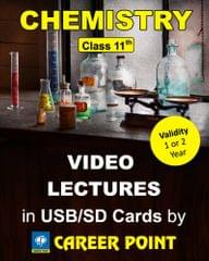 Video Lectures Chemistry Class 11 (1 Year)  + Chemistry formula book  for (JEE Main/Advance/AIPMT)