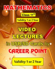 Video lecture on Maths for Class 11 (1 Year)+ Maths formula book (2018) -JEE (Main/Advanced)