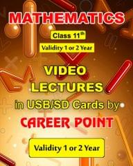 Video Lectures on Maths for Class 11  (2 Years) + Formula book of PCM for JEE (Main/Advance)  (2019)