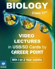 Video Lectures Biology for Class-11 (2 Years)  + Formula book set of PCB  for (AIPMT/NEET) (2019)
