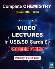 Video Lectures Complete Chemistry (1 Year) + Problem in Chemistry (set of 3 books) (2018)  for JEE Main/ Advanced & NEET/ AIPMT