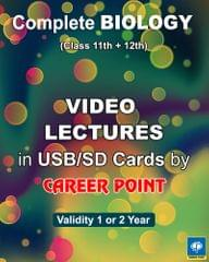 Video Lectures Complete Biology (2 Year) + Problem in Chemistry (set of 3 volume) (2019) for NEET/ AIPMT