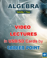 Video Lectures of Algebra + Maths formula book JEE (Main/Advance) (1 Year)