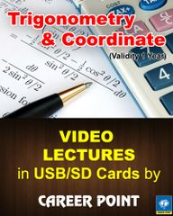 Video Lectures of Trigonometry and Coordinate + Maths formula book  JEE (Main/Advanced) (2018)
