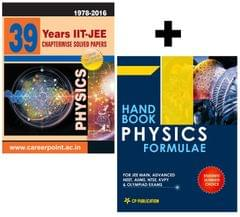 39 Years Physics Chapter Wise Solved Papers + Physics Formula Book ( IIT-JEE Physics (2016-1979) + Physics Formula Book)